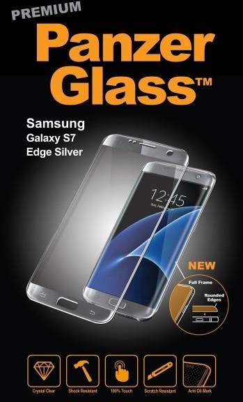 PanzerGlass Premium pro Samsung Galaxy S7 Edge, stříbrné