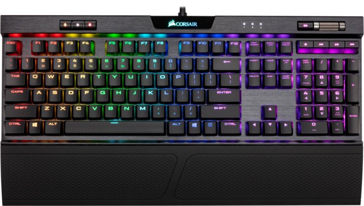 Corsair K70 RGB MK.2 Low Profile RAPIDFIRE, Cherry MX LP Speed Silver, US