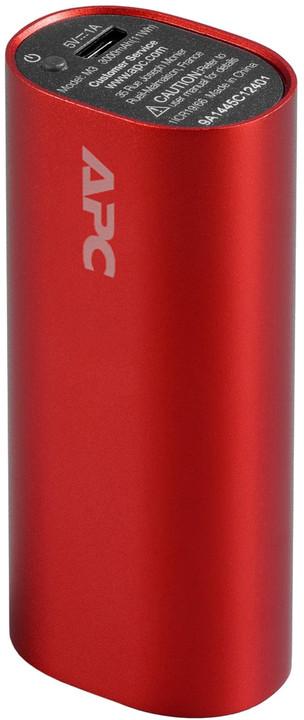 APC Mobile Power Bank, 3000mAh, červená