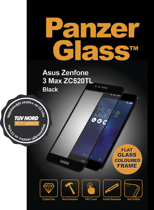 PanzerGlass Edge-to-Edge pro Asus Zenfone 3 Max, černé