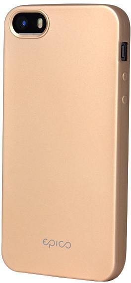 EPICO pružný plastový kryt pro iPhone 5/5S/SE EPICO GLAMY - zlatý