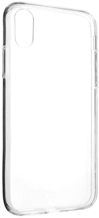 FIXED Skin ultratenké TPU gelové pouzdro pro Apple iPhone X, 0,6 mm, čiré