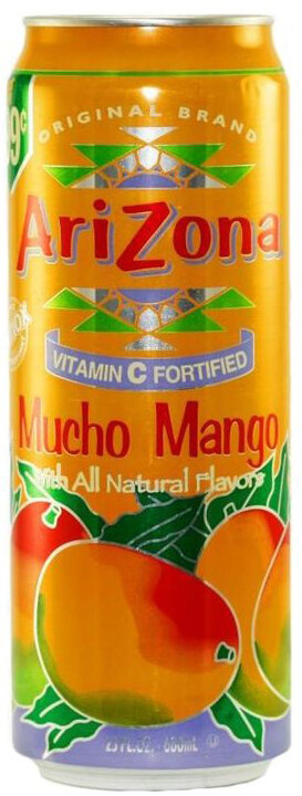 AriZona Mucho Mango, limonáda, mango, 680 ml