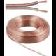 Kabel PremiumCord na propojení reprosoustav 100% měď, 2x0,75mm, 10m