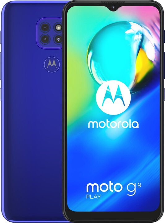 Motorola Moto G9 Play, 4GB/64GB, Electric Blue