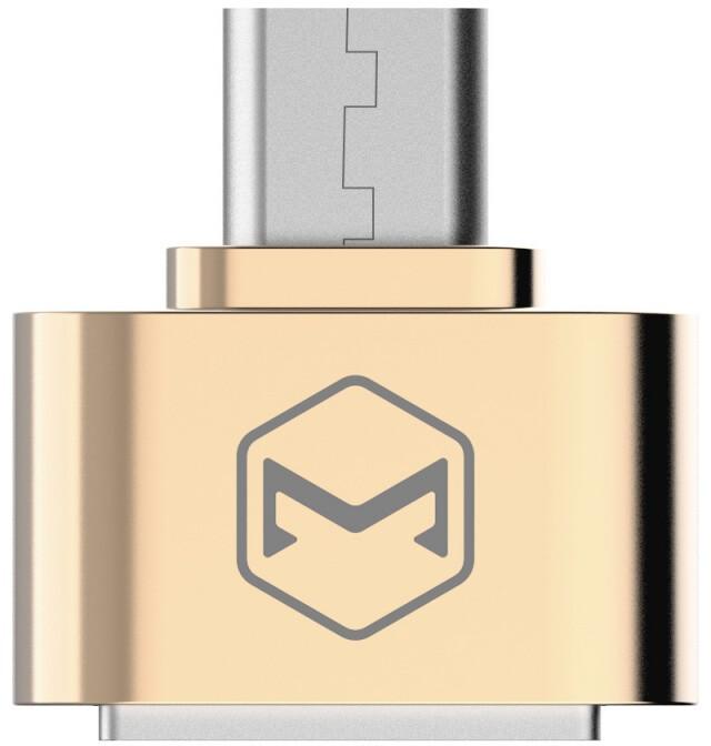 Mcdodo redukce z USB 2.0 A/F na microUSB (18x18x9 mm), zlatá