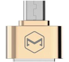 Mcdodo redukce z USB 2.0 A/F na microUSB (18x18x9 mm), zlatá - OT-0972