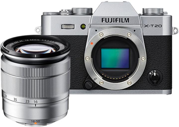 Fujifilm X-T20 + XC 16-50mm, stříbrná