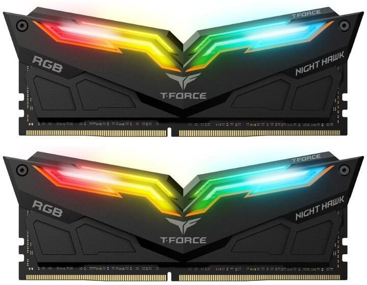 Team T-FORCE Night Hawk RGB 16GB (2x8GB) DDR4 3000, black