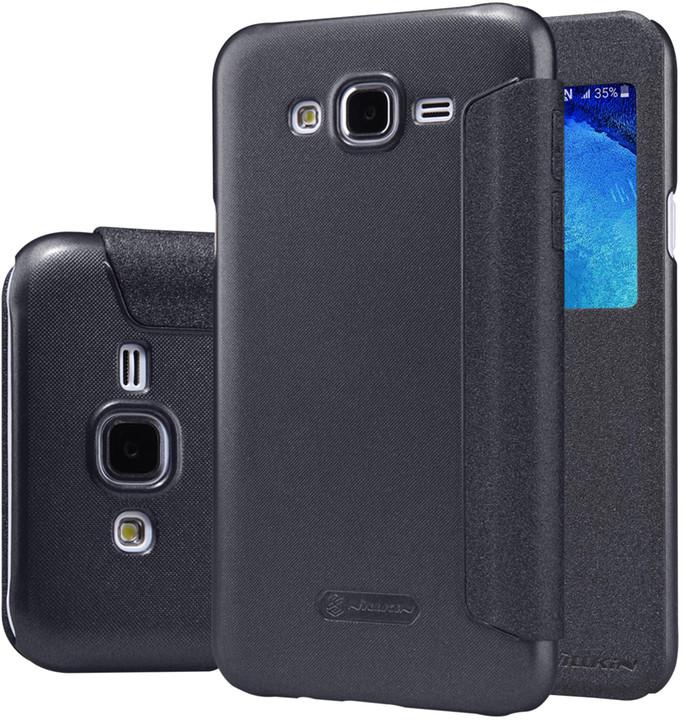 Nillkin Sparkle S-View pouzdro pro Samsung J500 Galaxy J5, černá
