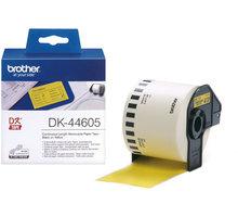 Brother - DK44605 (papírová role žlutá 62mm x 30,48m) - snadno odstranitelná