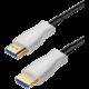 PremiumCord optický fiber High Speed with Ether. 4K@60Hz kabel 10m, M/M, zlacené konektory