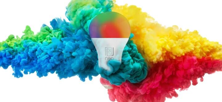 IMMAX NEO LITE Smart žárovka LED E27 10W RGB+CCT barevná a bílá, stmívatelná, WiFi
