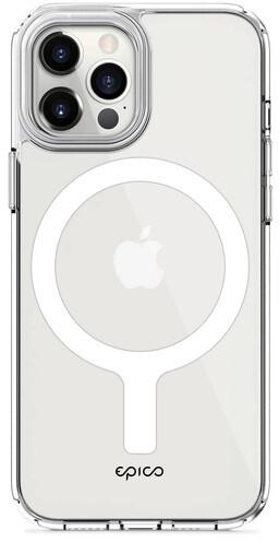 EPICO ochranný kryt Hero Magnetic s MagSafe pro iPhone 12/12 Pro, transparentní