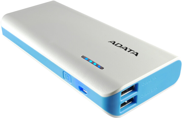 ADATA PT100 10000mAh bílá/modrá