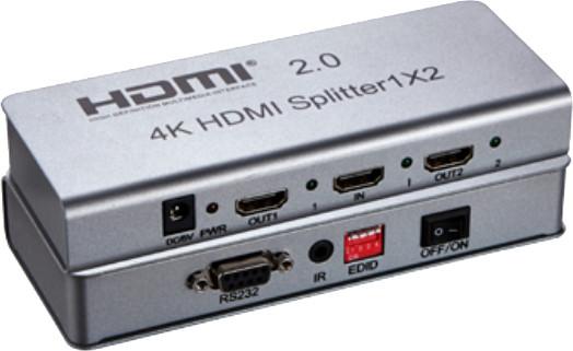 PremiumCord HDMI 2.0 splitter 1-2 porty, 4K x 2K/60Hz, FULL HD, 3D