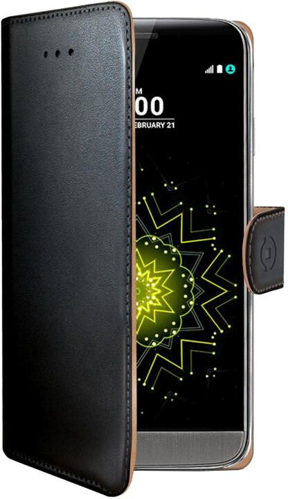 CELLY Wally Pouzdro typu kniha pro LG G5, PU kůže, černé