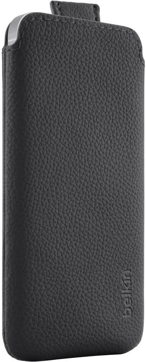 Belkin Pouzdro zasouvací PU kůže iPhone 5/SE, černá