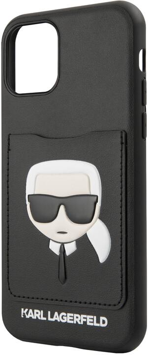 KARL LAGERFELD CardSlot kryt pro iPhone 11, černá
