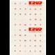 Přelepka na klávesnici ruská, červená