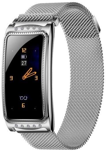IMMAX chytré hodinky Crystal Fit, stříbrné
