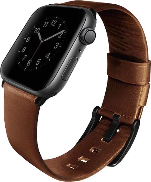 UNIQ Mondain Apple watch 4 Genuine Leather strap 44mm, sepia