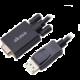 AKASA kabel k monitoru DisplayPort - VGA, 1920x1080p@60Hz, 2m, černá