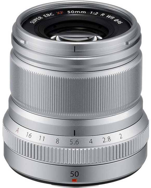 Fujinon XF50mm f/2 R WR, stříbrná