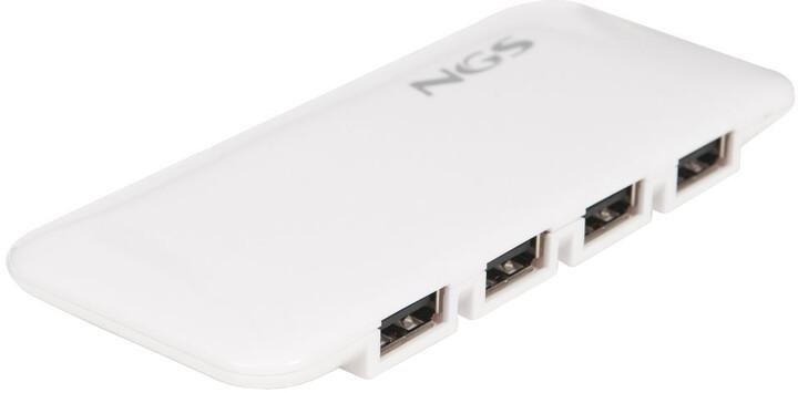 NGS IHUB7 7x port USB 2.0, bílá