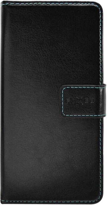 FIXED flipové pouzdro Opus pro Motorola E6s (2020), černá