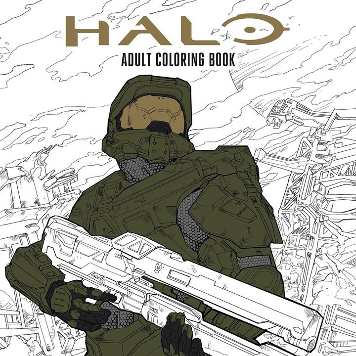 Halo - omalovánky pro dospělé