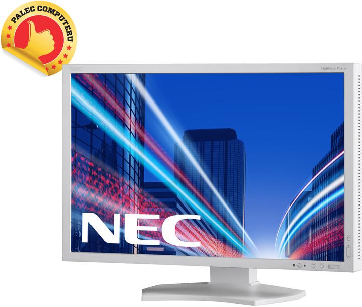 "NEC MultiSync P232W, stříbrná - LED monitor 23"""
