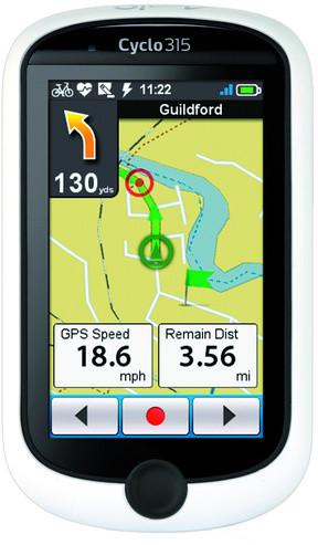 """Mio Cyclo 315 HC, navigace 3,0"""" (bezdrátový přenos ANT+)"""