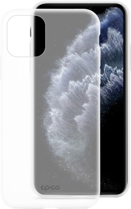 EPICO silikonový kryt 2019 pro iPhone 11 Pro, bílá transparentní