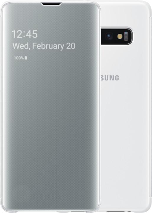 Samsung Clear View flipové pouzdro pro Samsung G973 Galaxy S10, bílá