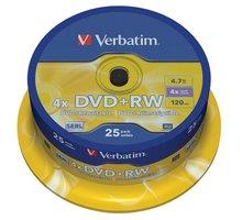 Verbatim DVD+RW 4x 4,7GB spindl 25ks - 43489
