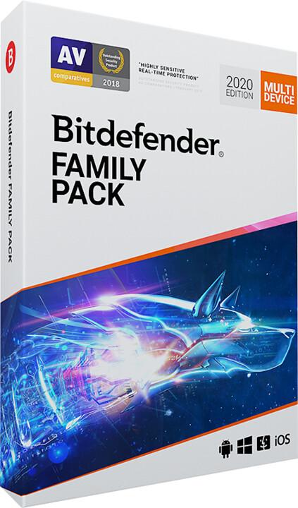 Bitdefender Family Pack - 15 licence (12 měs.)