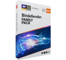 Bitdefender Family pack - 15 zařízení na 1 rok - BOX - FP01ZZCSN1215LEN_BOX