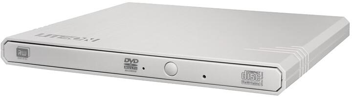 Lite-On eBAU108, USB, Super-Slim, ultra-light, bílá