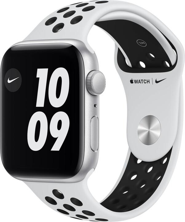 Apple Watch Nike SE, 44mm, Silver, Pure Platinum/Black Nike Sport Band