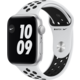 Apple Watch Nike SE, 44mm, Silver, Pure Platinum/Black Nike Sport Band Epico řemínek Canvas pro Apple Watch 42/44mm, červená v hodnotě 549 Kč