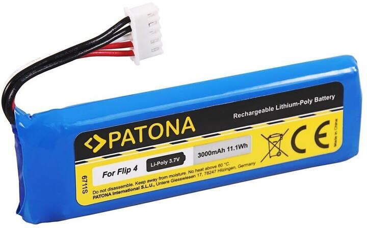 Patona baterie pro reproduktor JBL Flip 4, 3000mAh, 3.7V Li-Pol