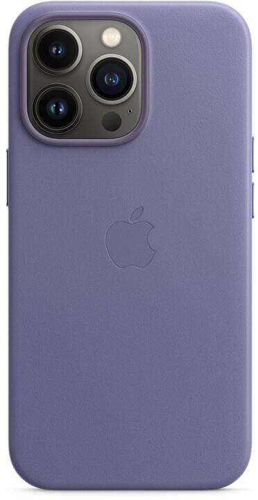 Apple kožený kryt s MagSafe pro iPhone 13 Pro, šeříkově nachová