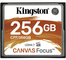 Kingston CompactFlash Canvas Focus 256GB 150MB/s - CFF/256GB