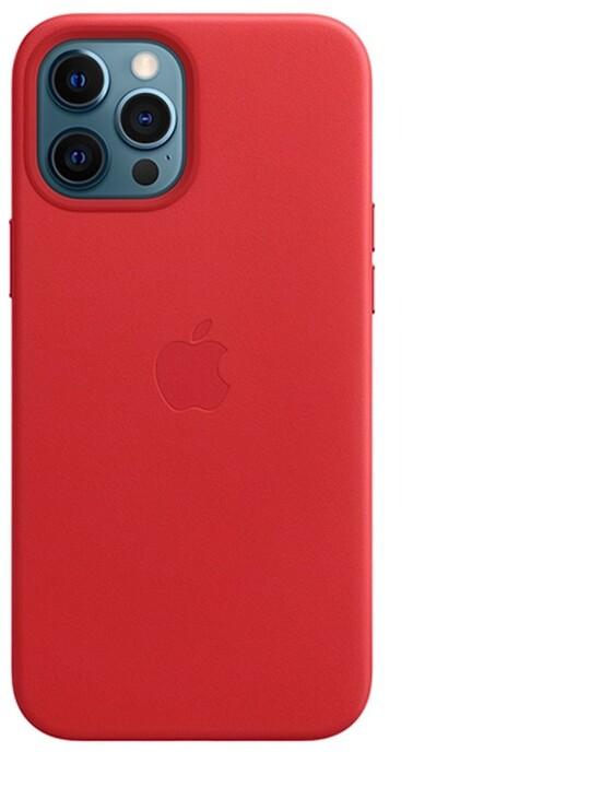 Apple kožený kryt s MagSafe pro iPhone 12 Pro Max, (PRODUCT)RED - červená