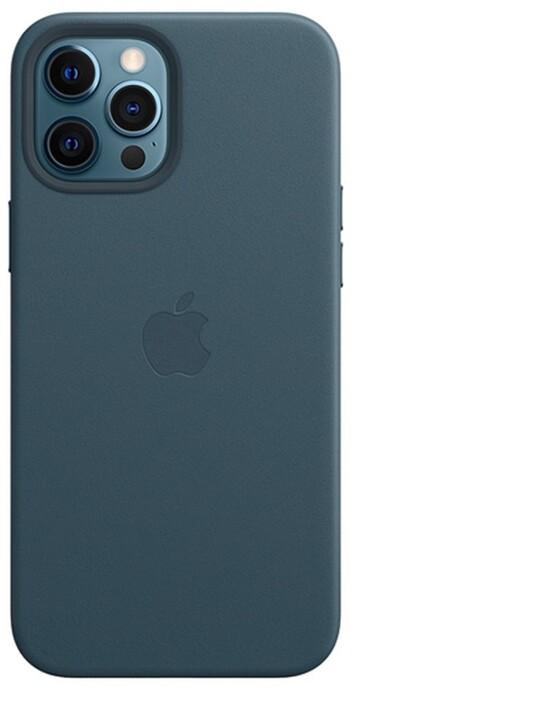 Apple kožený kryt s MagSafe pro iPhone 12 Pro Max, modrá