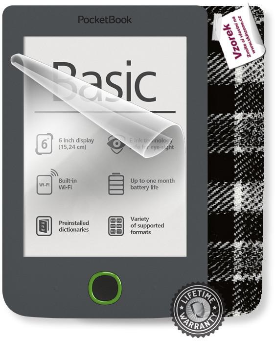 ScreenShield fólie na displej + skin voucher (vč. popl. za dopr.) pro PocketBook 614 Basic 3