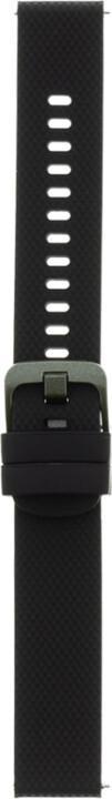 Tactical 572 silikonový řemínek pro Garmin VivoActive 4S, 18mm, černá