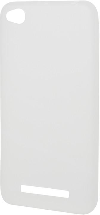 EPICO pružný plastový kryt pro Xiaomi Redmi 4A SILK MATT - bílý transparentní
