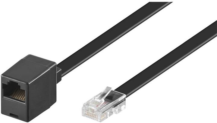 PremiumCord prodlužovací rovný 8P8C plug - 8P8C jack 3m - černý